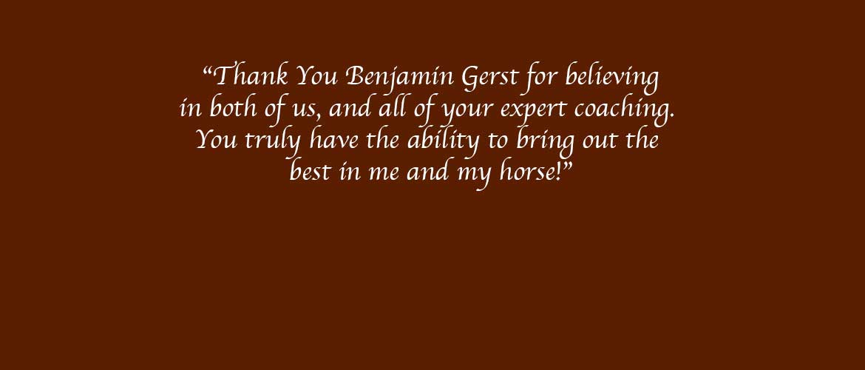 Ben Gerst Non Pro Reining Trainer in Colorado